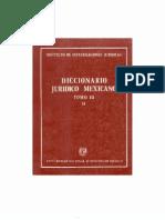 Diccionario Juridico Mexicano - Tomo III d
