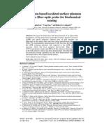 A Reflection-based Localized Surface Plasmon Resonance Fiber-optic Probe for Biochemical Sensing