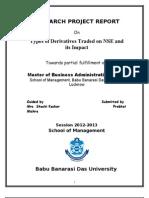 Indian Derivative Market - Final Tnr