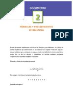 Formulas y Procedimientos Estadisticos