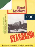 De Lo Rural a Lo Urbano