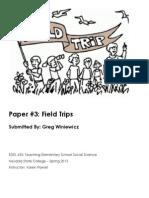 EDEL453 Spring2013 GregWINIEWICZ FieldTrips