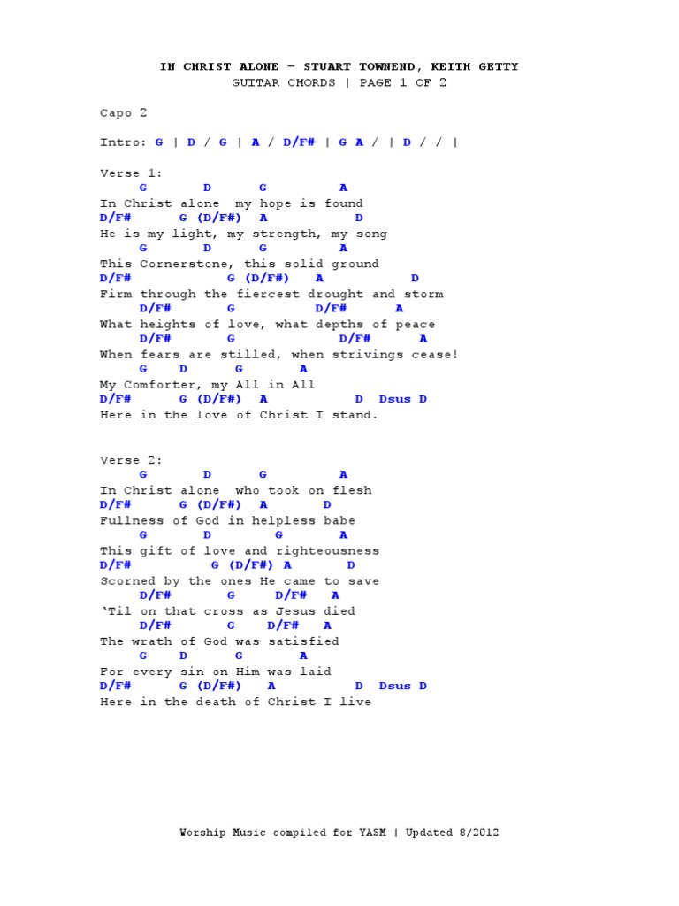 Guitar chords to in christ alone images guitar chords examples in christ alone christian belief and doctrine jesus fatherlandz images hexwebz Image collections