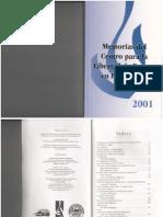 Memorias 2001