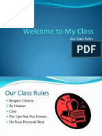 welcome to my class - presentation