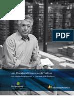 Lean Manufacturing - Microsoft Dynamics
