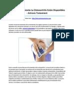 Artrosis Tratamient
