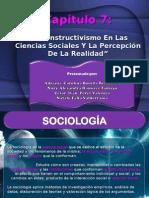 El Constructivismo En Las Ciencias Sociales Y La Percepción De La Realidad