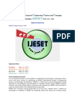 Call for Journals IJESET Paper