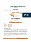 IJESET Call for Papers Journal