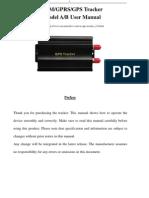 Gps103ab Gps Tracker User Manual