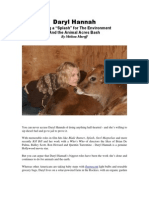 Daryl Hannah - Making a 'Splash' for the Environment and the Animal Acres Bash by Melissa Maroff