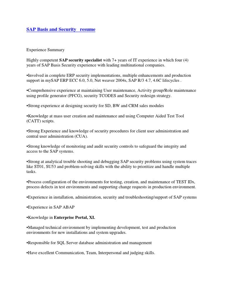 sample sap resume resume cv cover letter sample sap resume resume cv cover letter resume sap