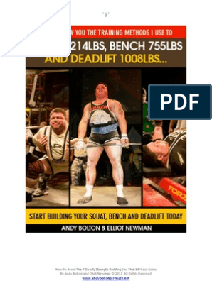 Andy Bolton How I Squat Bench and Deadlift