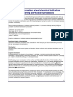 General Information About Chemical Indicators Monitoring Sterilization Processes