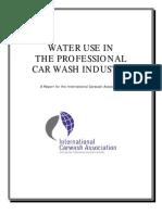 Car Wash Water Use
