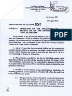 Department Circular No 5