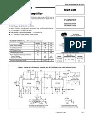 MC1330A Motorola MC1330AP Low Level Video Detector