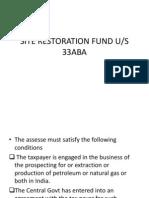 Site Restoration Fund u