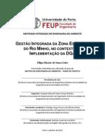 GESTÃO INTEGRADA DA ZONA ESTUARINA  DO RIO MINHO