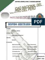 Monografia Despido Arbitrario y Nulo