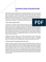 What is Cheque Truncation