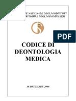 Medici Codice deontoloigico