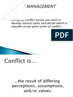 Conflict Management  by Neessha William
