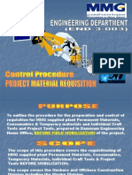 END-3-003 Project Mat Req