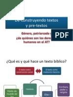 De-Construyendo Textos y Pre-textos