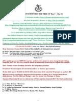 Week Events - May 5 - May 11