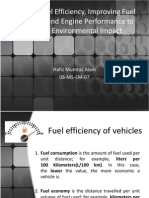 Vehicle Fuel Efficiency, Improving Fuel Economy And
