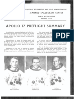 NASA Facts Apollo 17 Preflight Summary