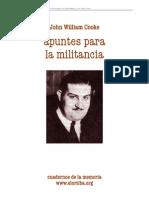 William Cooke John - Apuntes Para La Militancia