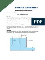 Fluids Lab Flow Rate
