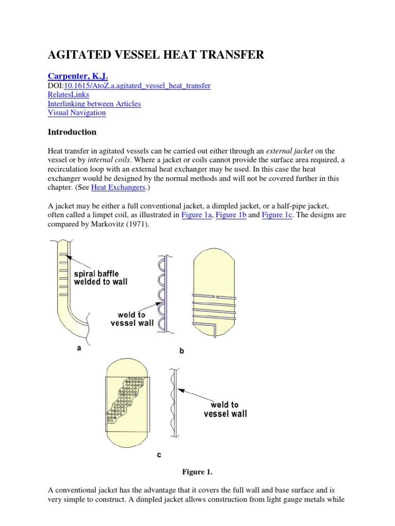 Agitated Vessel Heat Transfer (K.J. Carpenter) | Viscosity | Heat Transfer  sc 1 st  Scribd & Agitated Vessel Heat Transfer (K.J. Carpenter) | Viscosity | Heat ...