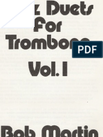 JAZZ DUETS for Trombone - Bob Martin