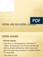 Kernel and Non Kernel Clauses