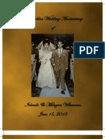 The Golden Wedding Invitation