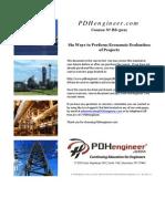 6 Ways to Perform Engineering Economics