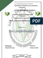 Lyophilisation Exposé