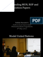 Understanding MUN, ROP and Pos Paper