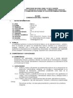 Silabo 2013 Comunicación oral  y escrita.