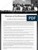 Open Letter from the Musicians of the Minnesota Orchestra