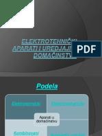 Elektrotehnički aparati I uredjaji u domacinstvu