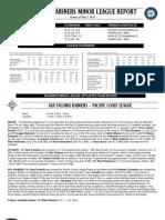05.04.13 Mariners Minor League Report