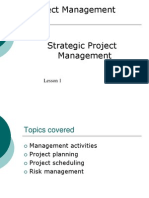 PM Lesson 1 Strategic Project Management (1)