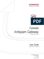 Comodo Antispam Gateway v.1.9 User Guide