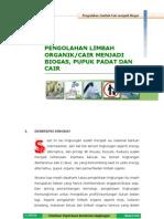 Modul Pengelolaan Limbah Organik Menjadi Biogas