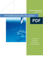 Informe de Potabilizacion de Agua Con Parte de Legislacion